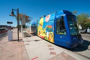 Streetcar in Downtown Tucson